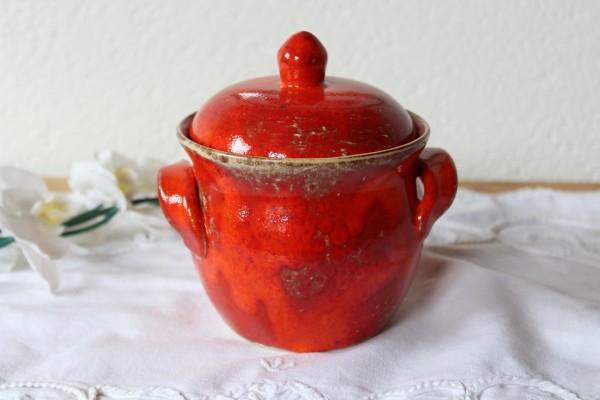 Vorratstopf mittelgroß rote Keramik getöpfert