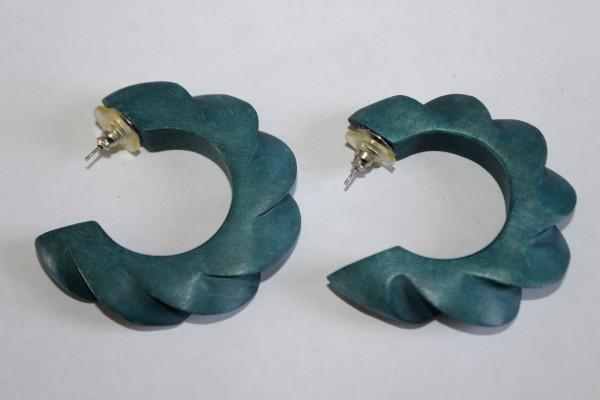 türkis blaue Ohrstecker Ringe Retro Ohrringe
