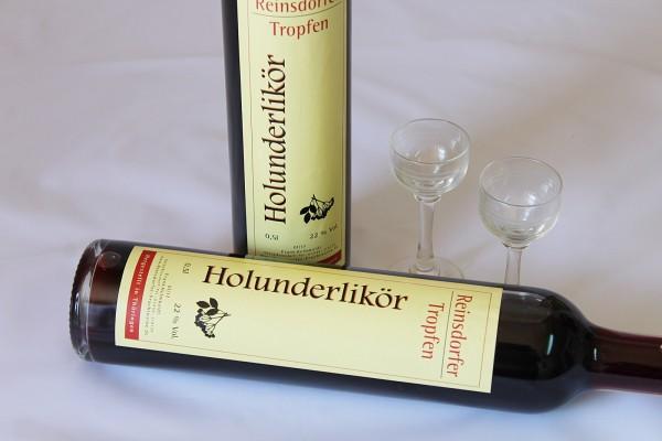 Holunderlikör hausgemachter Likör aus Holunder 0,5 l 22%Vol.