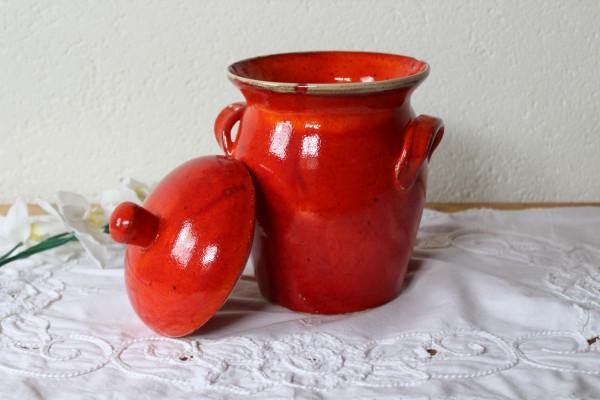 Vorratstopf extra groß Tontopf Keramik rot Handarbeit