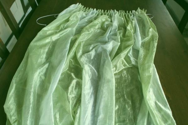 Vorhang Gardinenschal grün 50 x 1,85 m Austellungsstück