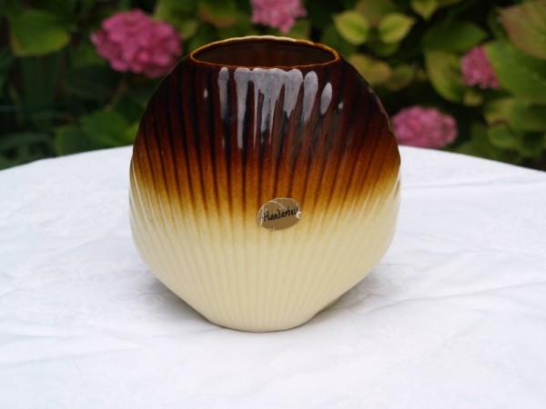 Blumenvase Vase Keramik braun beige Vintage