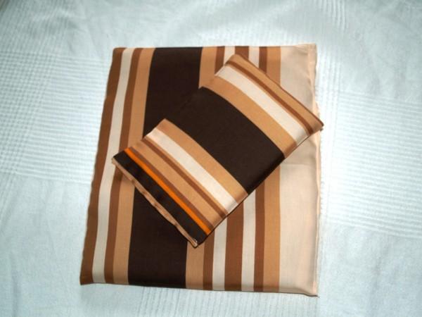 Puppenbettwäsche gestreift 2-teilig Kissen Decke