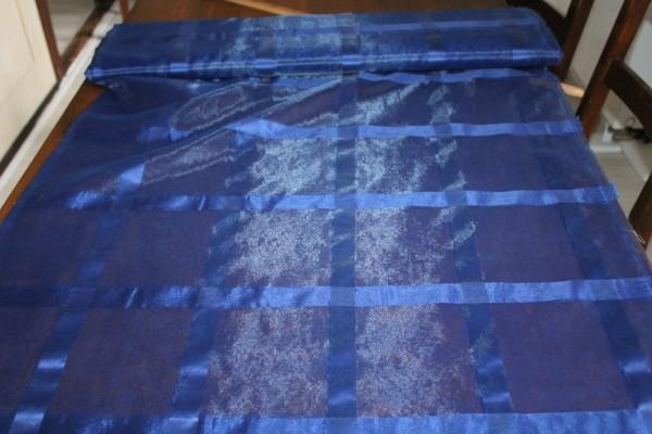 transparenter Dekostoff blau Vorhang und Gardinen Stoff