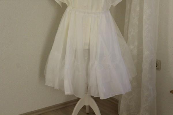 Petticoat weiß zweistufig Gr. L - XL Handarbeit