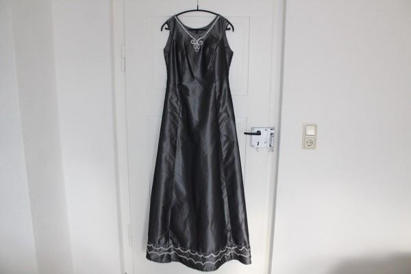 graues langes Kleid Gr 40 Abendkleid Kostüm Mottoparty