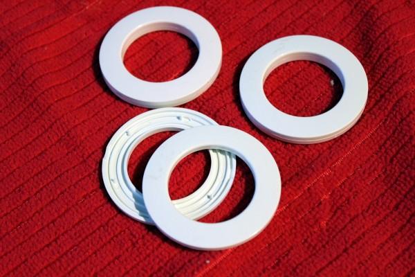 Gardinenösen Ösen weiß Kunststoffringe für Gardinen