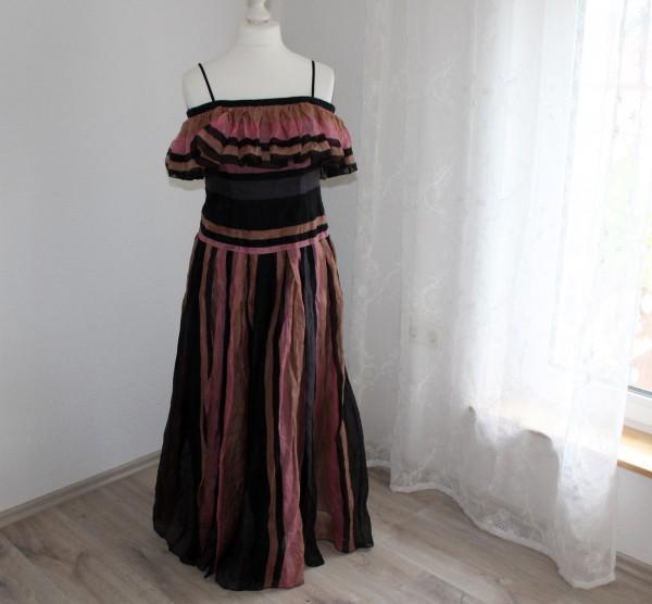 langes Kleid gestreift Gr XS Abendkleid Kostüm Sommer